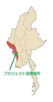 プロジェクトを行う場所の地図