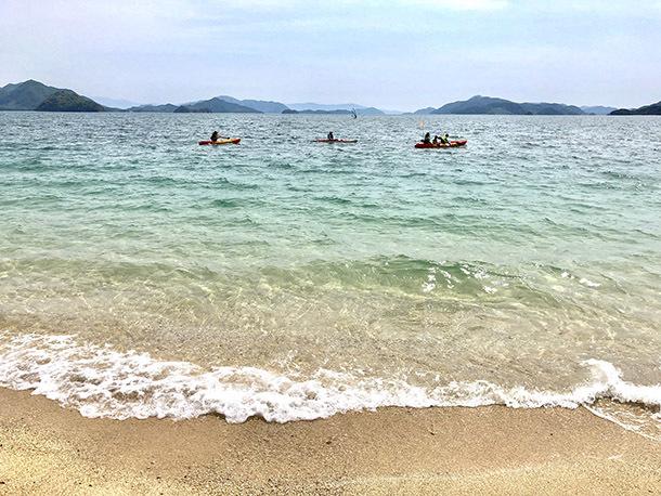 竹原の海でSUPやカヤック