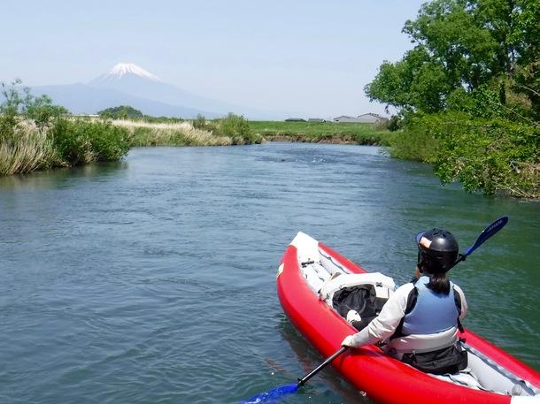狩野川から望む富士山