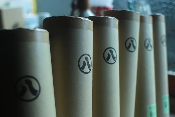 長田製紙所の紙管