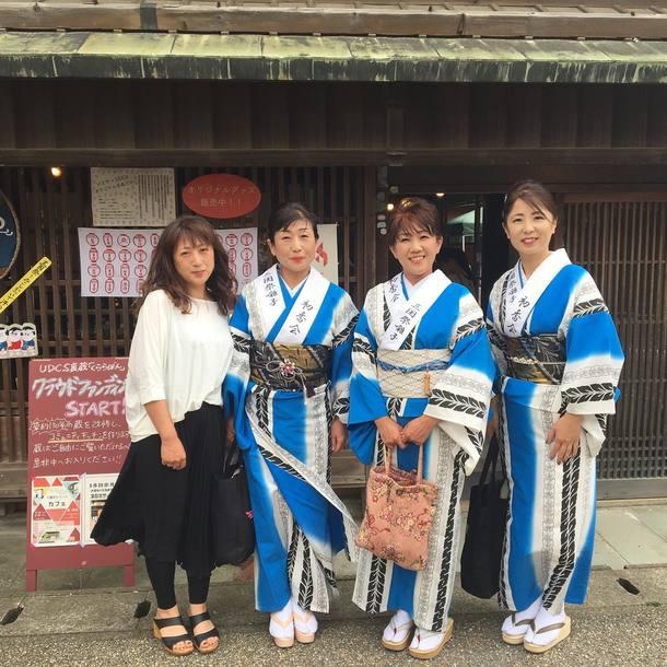 ▲三国祭囃子「初香会」のメンバー。左から2人目が私です。
