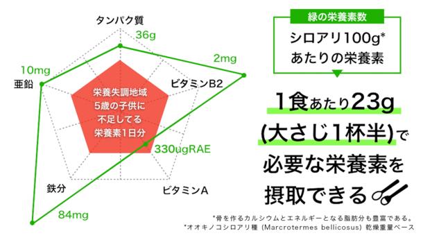 シロアリ栄養素チャート