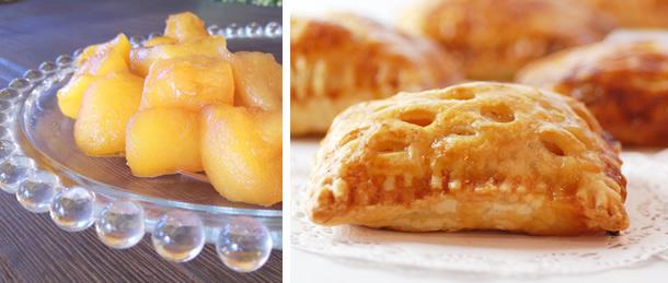 メープルシロップ煮りんごと、よしこたんのアップルパイ