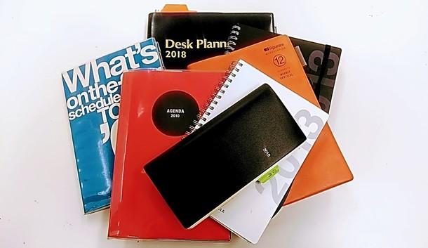 ほんの一部ですが色々な手帳を使ってきました。