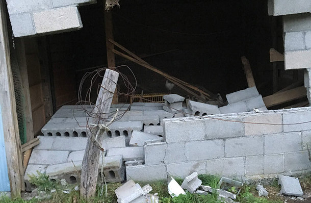 とあさ村では、前日の台風の被害も大きかった