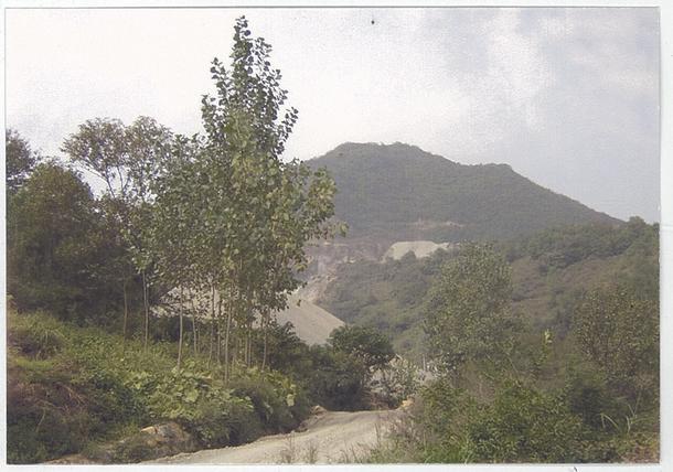 多美雄さんが従軍した山(中国)