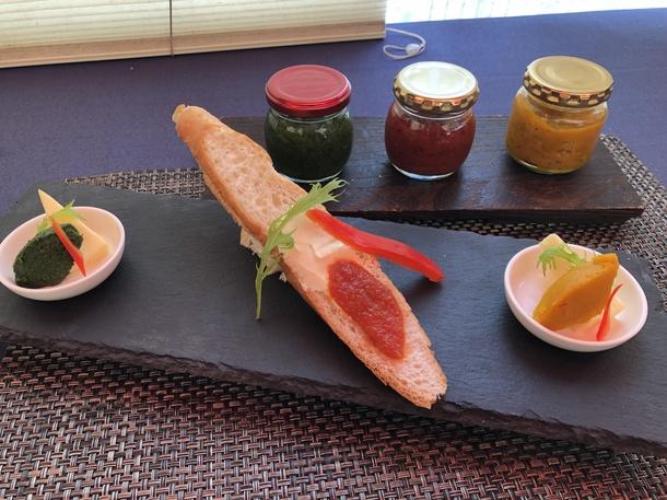 筑後野菜をまるごと使った3色のフレンチジャムを開発!写真は試作品です。