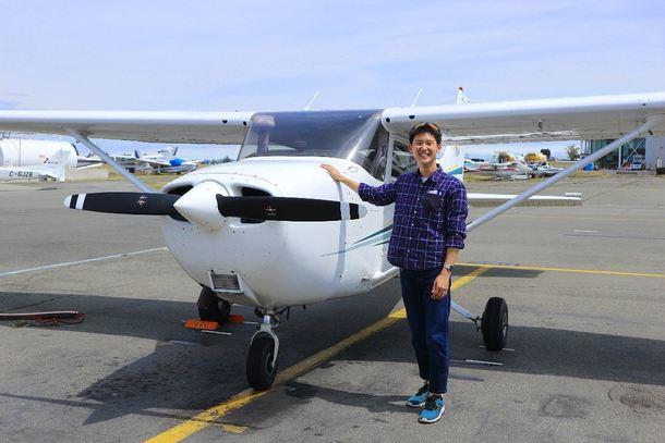 初めて操縦したC172。