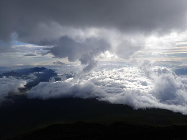 富士山からの雲の眺め