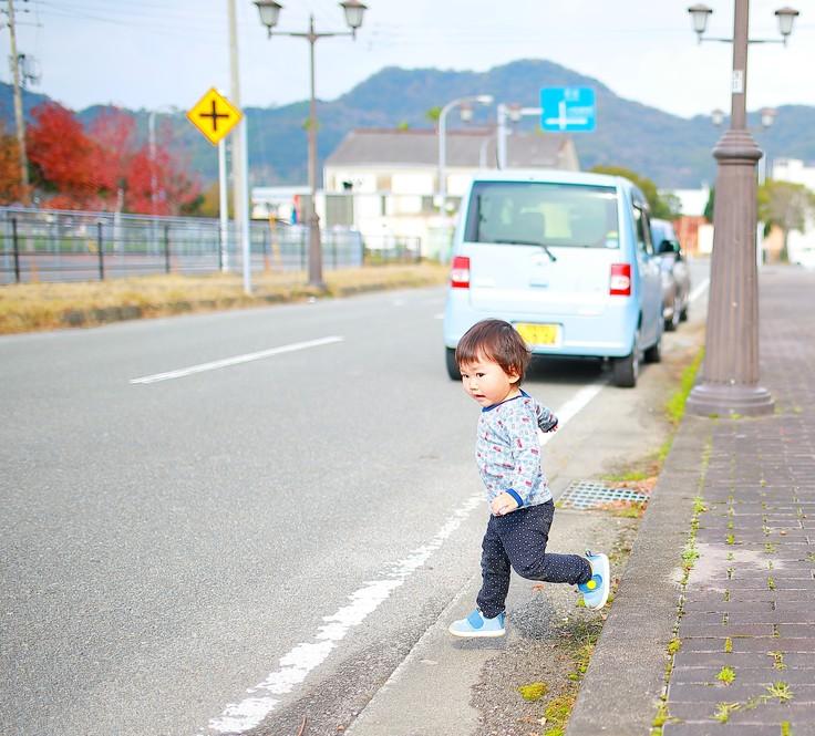 危険な道路横断