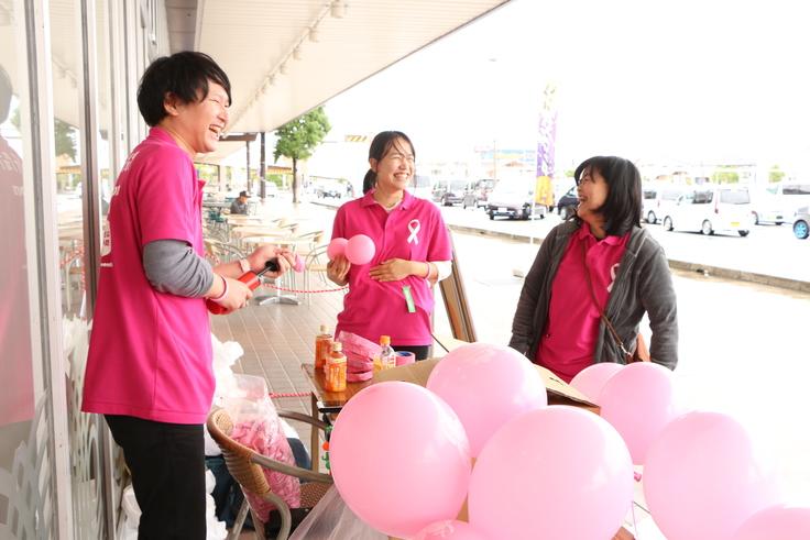 ちいき新聞の乳がん検診イベント三郷会場の様子