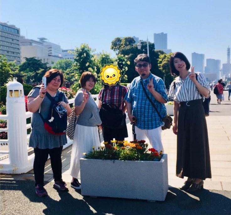 この日はお天気が良かったので横浜の街を散歩しました
