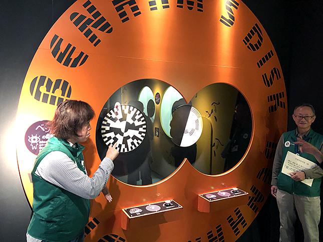 ベンハムの回転盤展示