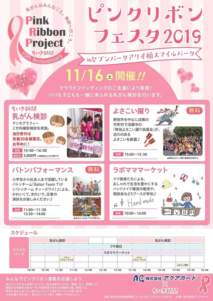 ちいき新聞の乳がん検診イベントポスター