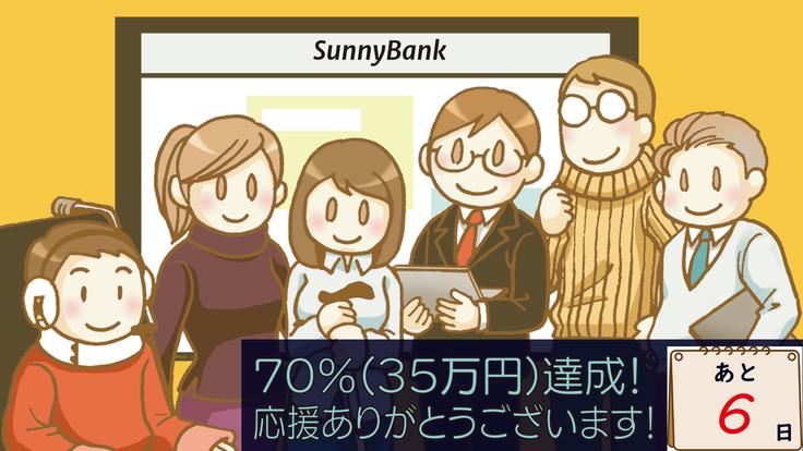 35万円(70%)突破!ありがとうございます!