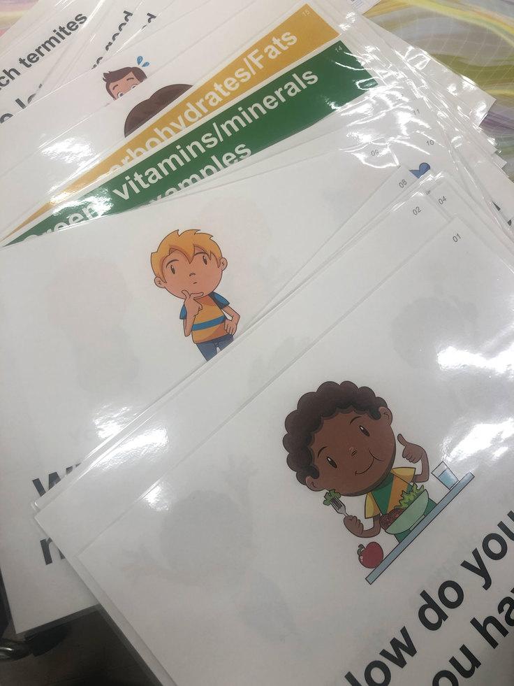 栄養授業用の紙芝居