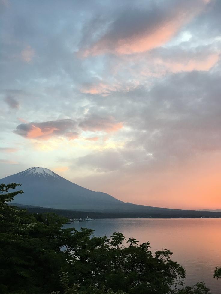 富士五湖の中でも一番標高い山中湖