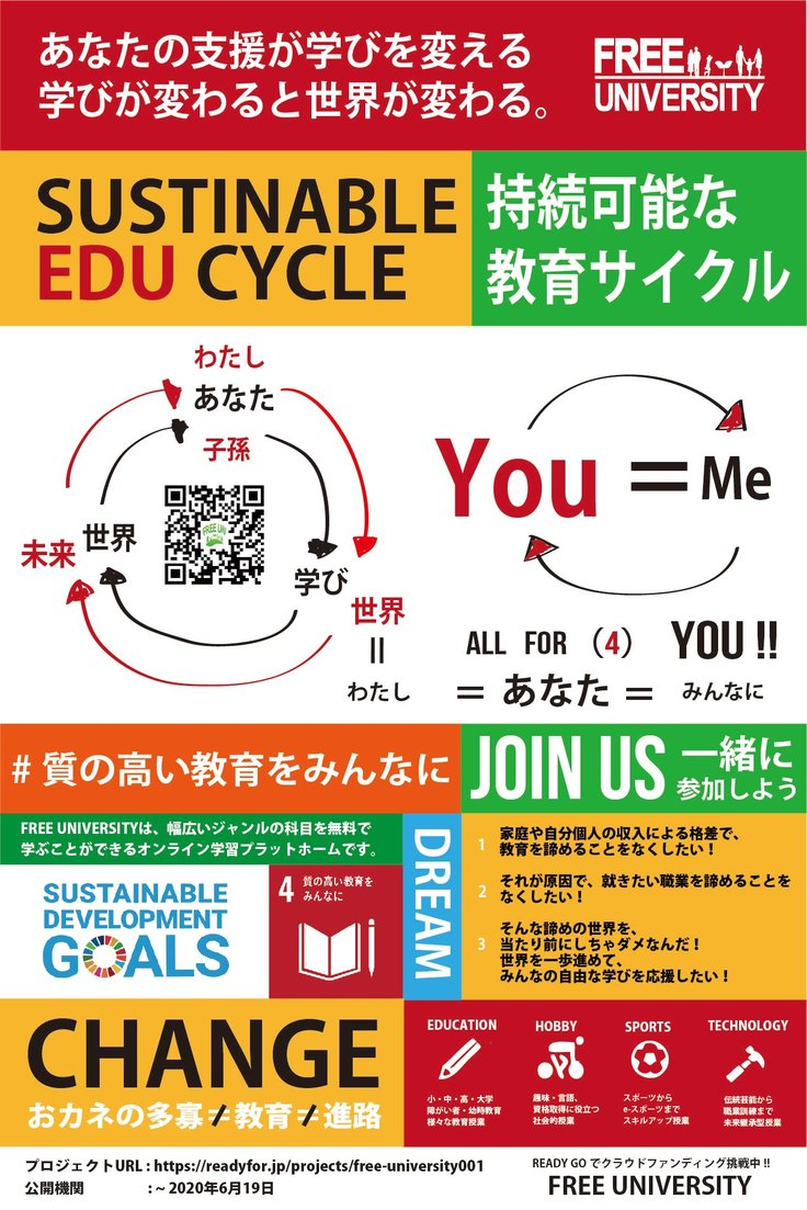FREE UNIVERSITY READYFOR 2020 Spring ダウンロード用画像
