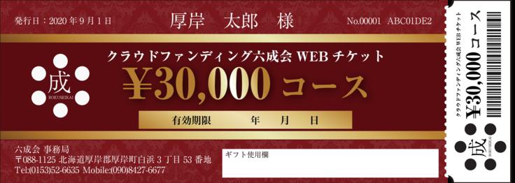 WEBチケット30000円分
