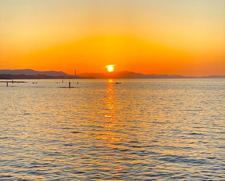 夕陽百選、夕日百選、夕日、夕陽、ぼうで、阪南市、波有手