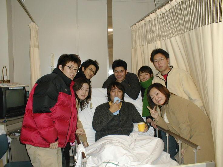 入院中、毎日一緒にいてくれたたくさんの友人たち