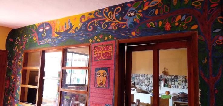 カサカサ壁画