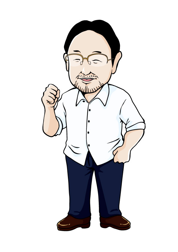 藻谷浩介氏似顔絵