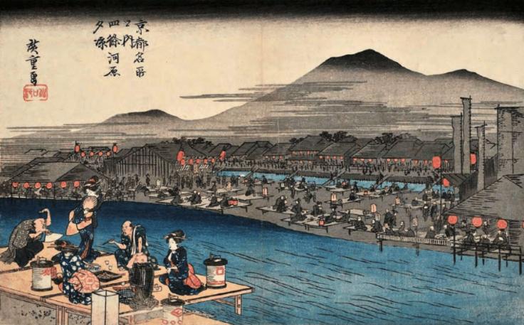 数百年前の鴨川の様子