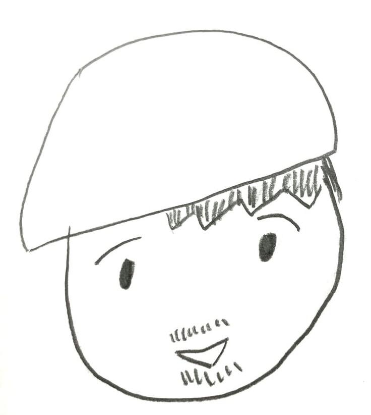 神山典士氏似顔絵