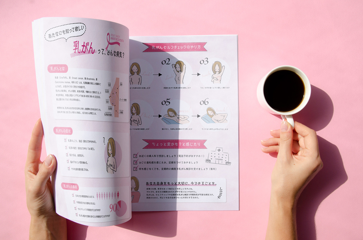 乳がんセルフチェック啓蒙パンフレット