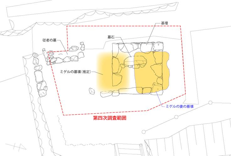 墓所平面図