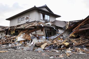 被災した木下の自宅