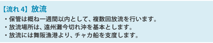 【流れ4】放流