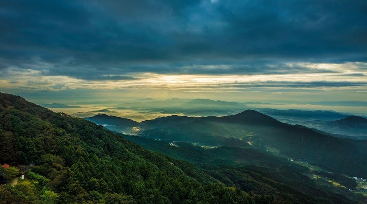 太宰府は宝満山からの風景