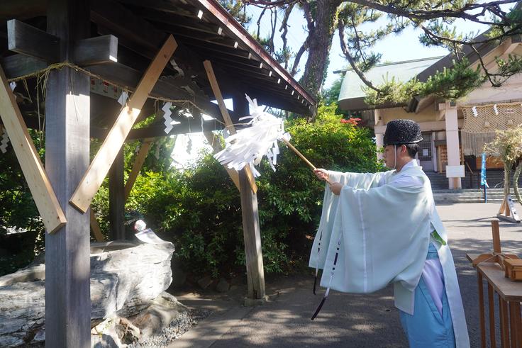 手水舎新築工事安全祈願祭並び解体修祓式