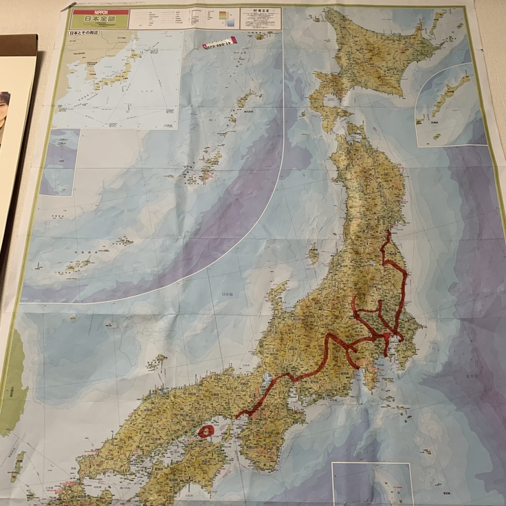 一人旅東日本縦断中に使ったマップです笑