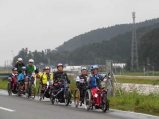 東北横断ハンドバイクツーリング  松島~にかほ市210km