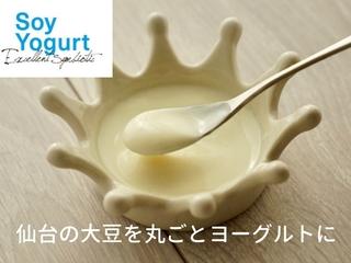 """腸内環境を健康に!""""食べて応援"""" 仙台の大豆丸ごとヨーグルト!"""