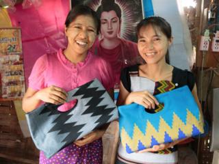 135以上のミャンマー民族の布でバッグをつくるモリンガに工房を!
