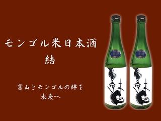 モンゴル米日本酒「結」で、富山とモンゴルの絆を未来へ