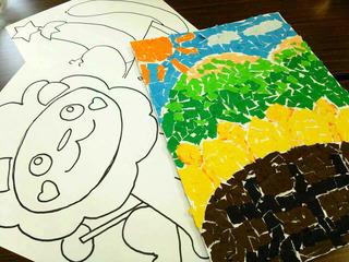 セブ島のスラム街で暮らす子どもたちと一緒にちぎり絵をしたい!