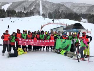 スキーを通じて、日本と台湾の視覚障害者の交流を深めたい。