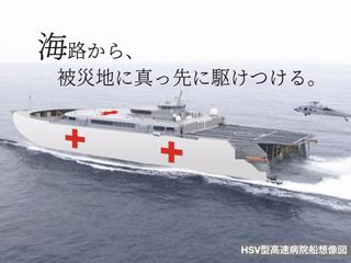 頻発する大災害。「病院船」導入の法制化にあなたのご支援を。