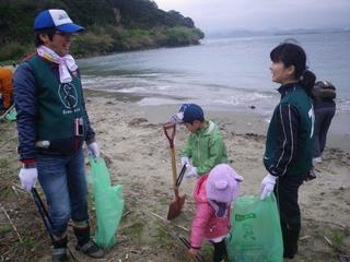 離島の海岸を清掃活動で、漂着ゴミのないキレイな海岸にしたい!