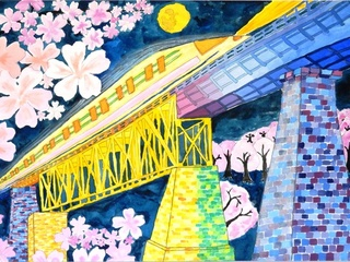 福島県の小学生が元気に描いた橋の絵コンクールの作品集を作る!