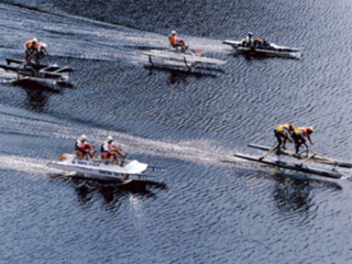 ソーラー・人力ボートレース大会で協会記録に挑戦します