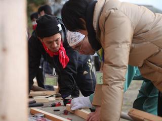 宮城県尾ノ崎へ来たボランティアをもてなせる古民家風呂を作る!
