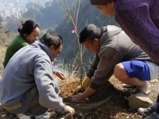 ネパールカトマンズ ビラヂル・皆生桜公園建設