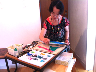 ニューヨークの「100人展」に、日本独自の木版画を展示したい