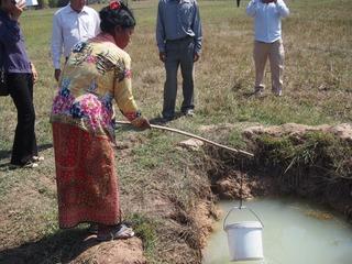 カンボジア、シェムリアップに井戸を5基掘削したい